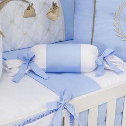 Almofada Apoio Bala Realeza Luxo Azul 62cm
