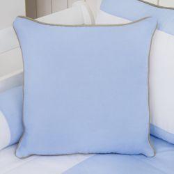 Almofada Lisa Realeza Luxo Azul 43cm