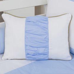 Almofada Retangular Realeza Luxo Azul 43cm