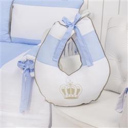 Almofada para Amamentação Realeza Luxo Azul