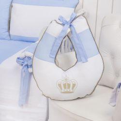 Almofada Amamentação Realeza Luxo Azul