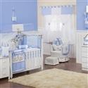 Quarto para Bebê sem Cama Babá Realeza Luxo Azul