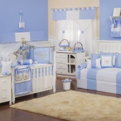 Quarto de Bebê Realeza Luxo Azul