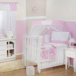 Quarto para Bebê sem Cama Babá Soft Rosa