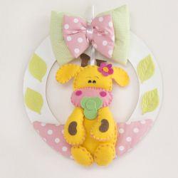 Porta Maternidade Bebezinhos Rosa