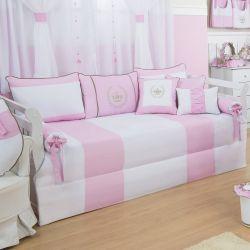 Kit Cama Babá Realeza Luxo Rosa