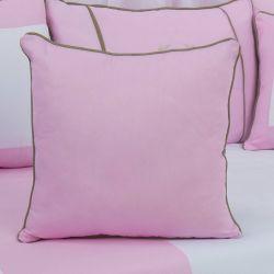 Almofada Lisa Realeza Luxo Rosa 43cm