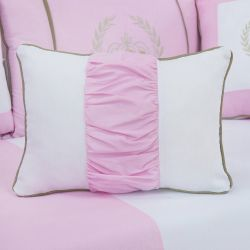 Almofada Retangular Realeza Luxo Rosa 43cm