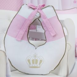 Almofada Amamentação Realeza Luxo Rosa