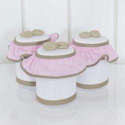Jogo de Potes Realeza Luxo Rosa