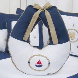 Almofada Amamentação Elegance Ursinho Marinheiro Marinho