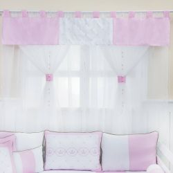 Cortina Elegance Coroa Rosa 1,45m