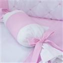 Almofada Apoio Bala Elegance Coroa Rosa