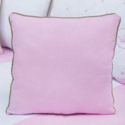 Almofada Lisa Elegance Coroa Rosa 43cm