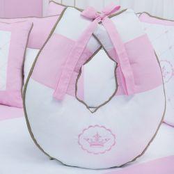 Almofada Amamentação Elegance Coroa Rosa