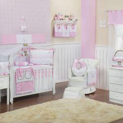 Quarto de Bebê sem Cama Babá Elegance Coroa Rosa