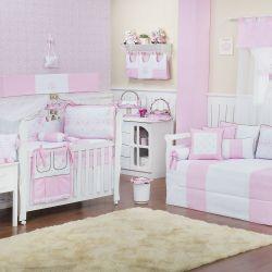 Quarto de Bebê Elegance Coroa Rosa