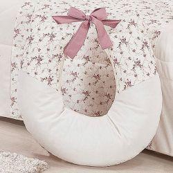 Almofada Amamentação Princesa Clássica Floral Rosê