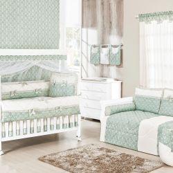 Quarto para Bebê sem Cama Babá Princesa Clássica Verde