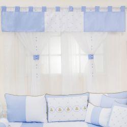 Cortina Elegance Teddy Azul 1,45m
