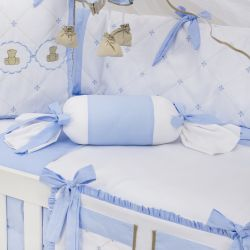 Almofada Apoio Bala Elegance Teddy Azul 62cm