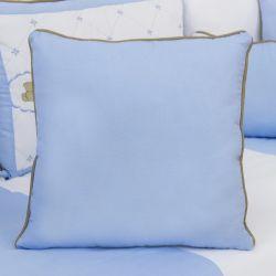Almofada Lisa Elegance Teddy Azul 43cm