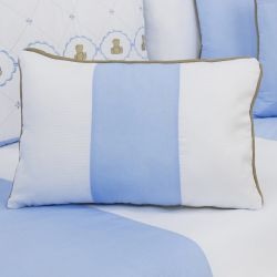 Almofada Retangular Elegance Teddy Azul 43cm