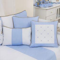 Almofadas Elegance Teddy Azul 3 Peças