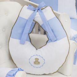 Almofada Amamentação Elegance Teddy Azul
