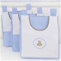 Porta Fraldas Varão Elegance Teddy Azul