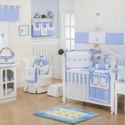 Quarto de Bebê sem Cama Babá Elegance Teddy Azul