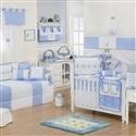Quarto para Bebê Elegance Teddy Azul