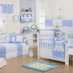 Quarto de Bebê Elegance Teddy Azul