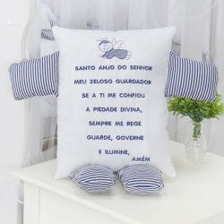 Naninha Santo Anjo Azul Marinho Listrado