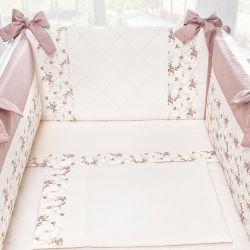 Kit Mini Berço Princesinha Clássica Floral Rosê