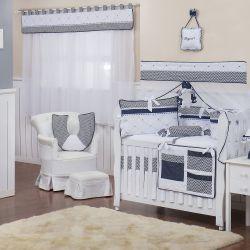 Quarto de Bebê sem Cama Babá Zig Zag Marinho