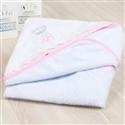 Toalha de Banho Iniciais de Nome Personalizado Rosa