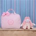 Mala Maternidade Valência Inicial do Nome Personalizada Rosa