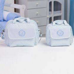 Conjunto de Bolsas Maternidade Inicial do Nome Personalizada Azul