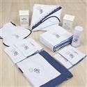 Kit Fraldas e Higiene Iniciais de Nome Personalizado Marinho