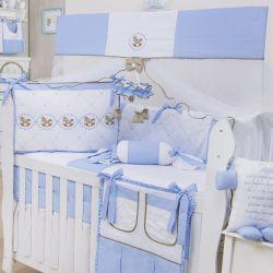 Kit Berço Elegance Cavalinho de Balanço Azul