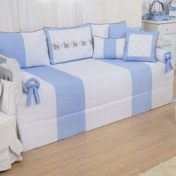 Kit Cama Babá Elegance Cavalinho de Balanço Azul