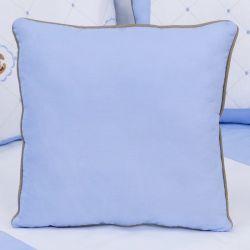 Almofada Lisa Elegance Cavalinho de Balanço Azul 43cm