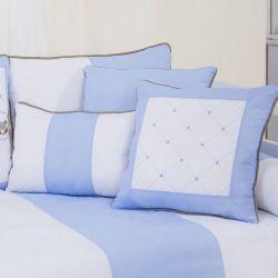 Almofadas Elegance Cavalinho de Balanço Azul 3 Peças
