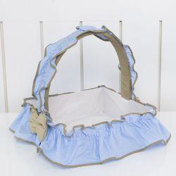 Cesta Elegance Cavalinho de Balanço Azul