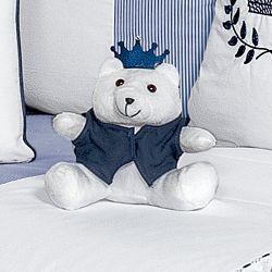 Urso Realeza Marinho 15cm