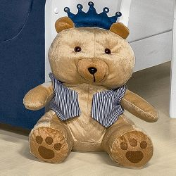 Urso Realeza Marinho 31cm
