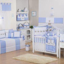 Quarto de Bebê Elegance Cavalinho de Balanço Azul