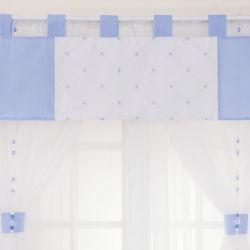 Cortina Elegance Coroa Azul 1,45m