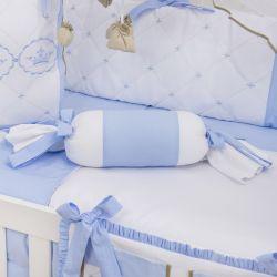 Almofada Apoio Bala Elegance Coroa Azul 62cm